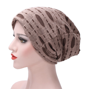 China wholesale knitted hole head scarf