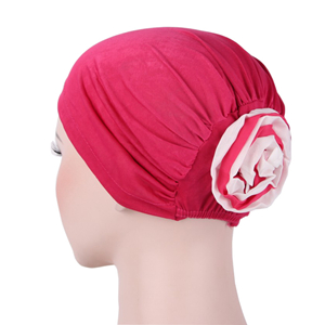 Cheap bi-colored flower Muslim headscarf