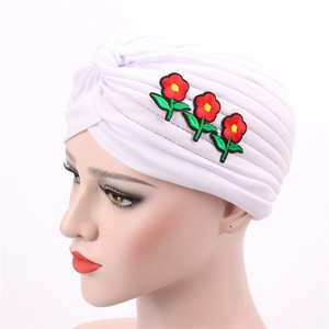 Pure color applique fold Muslim head scarf cheap from china