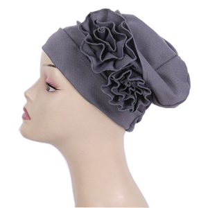 Corn grain double flower fold Dubai cheap head scarf
