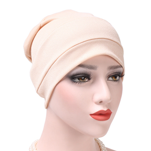 China wholesale simple color simple Muslim head scarf