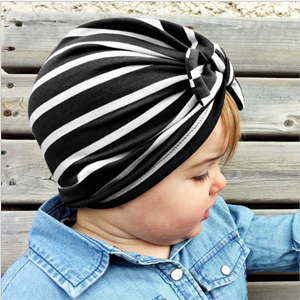 Wholesale children striped knot head scarf