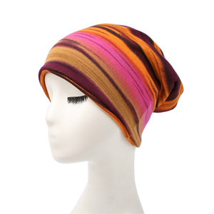 Colorful horizontal stripe head scarf cheap from china