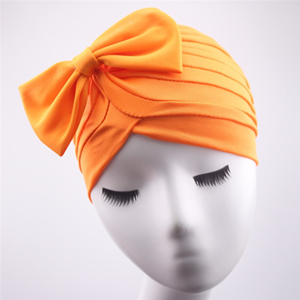 China cheap solid color fold bow Muslim head scarf