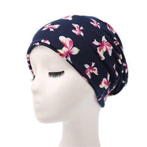 Elastic floral head scarf cheap from china