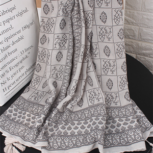 Light gray oracle pattern long sun protection cheap scarf