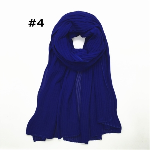 China wholesale Muslim solid color crumpled chiffon scarf