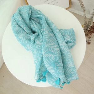 China cheap floral burrs cotton scarf