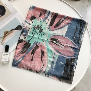 Blooming stamping cotton national wind cheap scarf