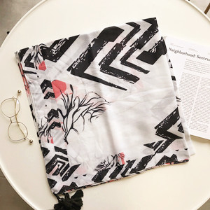 Wholesale feather tassel sunscreen cotton scarf