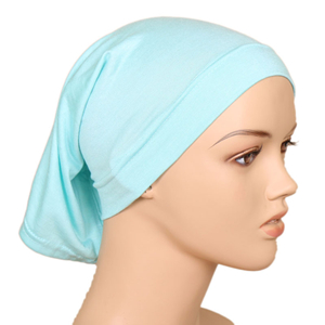 Monochrome high elastic cotton muslim cheap headscarf