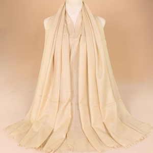 China wholesale gold silk line hair mustache muslim scarf