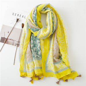 Wholesale cashew printed cotton scarf