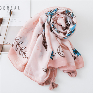 Letter feather tassel sunscreen cotton cheap scarf