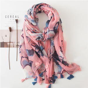 Cotton printed tassel sunscreen cheap scarf