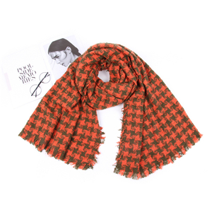 Wholesale wool British plaid warm scarf