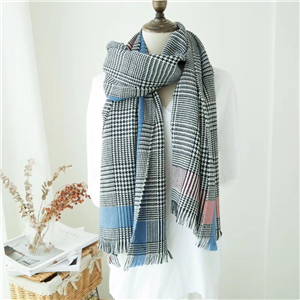 British border houndstooth cashmere scarf cheap from China