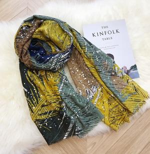 Wholesale Cotton scarf hot silver feather shawl China