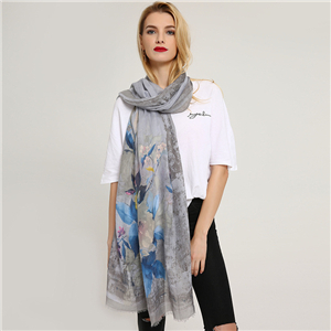Wholesale printed cotton sunshade scarf