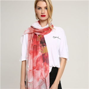 Wholesale floral print cotton decorative scarf