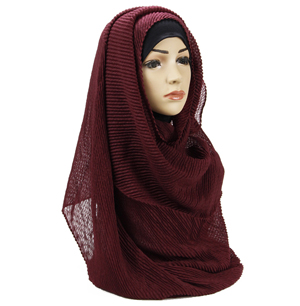 China hijab Arab headscarf crumpled woman cotton linen scarf