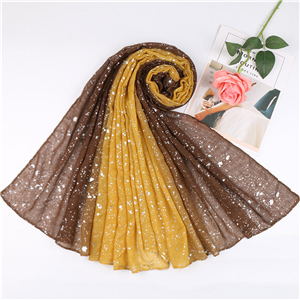 Wholesale gradient water drops hot silver cotton scarf