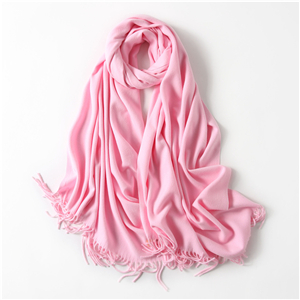Wholesale solid color tassel cotton scarf