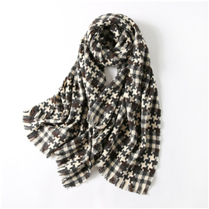 Wholesale puzzle bird pattern tassel cotton cheap scarf