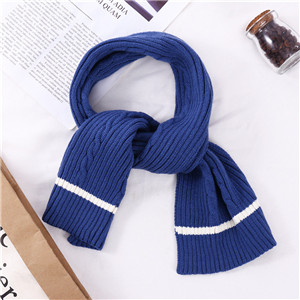 Solid color jacquard pattern knit cotton cheap scarf