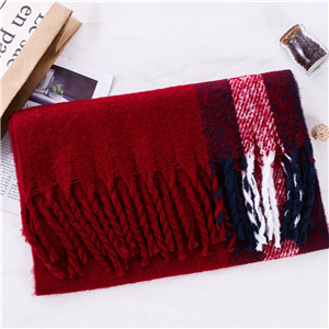 Border stripe solid color tassel cashmere cheap scarf