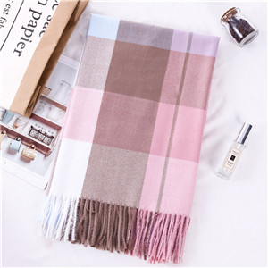 China wholesale scottish plaid fringe cashmere scarf
