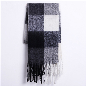 Wholesale gradient lattice fringed cashmere scarf