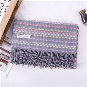 Chinese wholesale tassel plaid cashmere scarf