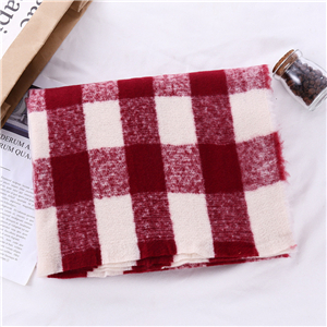 Wholesale color matching square plaid cashmere scarf