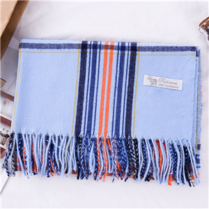 Colorblock striped tassel cashmere cheap scarf