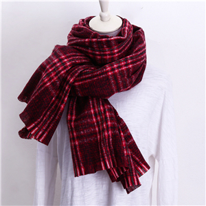 Color matching thorns solid color plaid cashmere cheap scarf