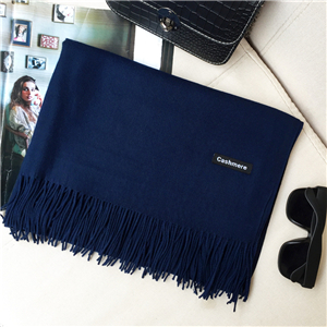 Wholesale solid color cashmere brushed tassel scarf