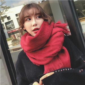 Wholesale solid color woolen cashmere warm scarf