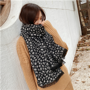 China wholesale leopard print cashmere scarf