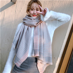 Plaid pattern cashmere decorative cheap scarf