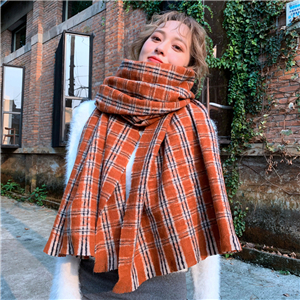 Wholesale plaid cashmere cheap scarf
