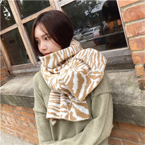 China wholesale leopard print knit scarf