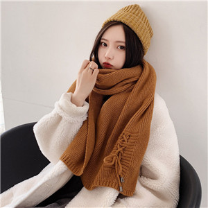 Wholesale solid color knitted wool scarf