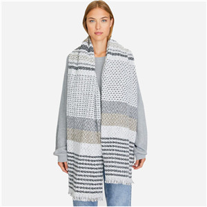 Wholesale cashmere colorblock striped scarf