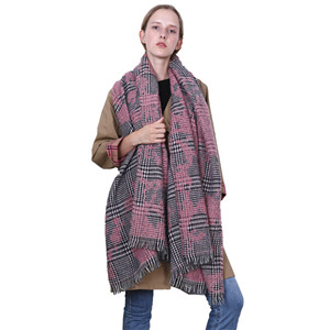 Wholesale thousand birds plaid cashmere warm scarf
