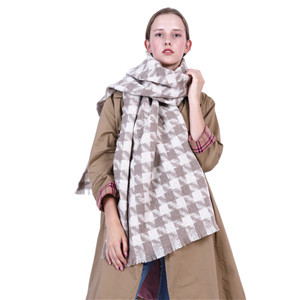 Houndstooth cashmere warm cheap scarf