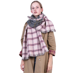Wholesale plaid cashmere decorative cheap scarf