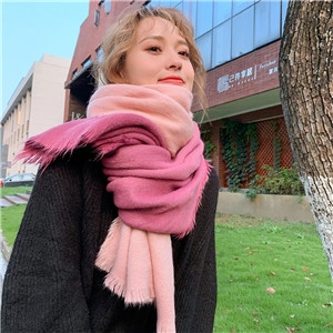 Wholesale color matching cashmere hair scarf