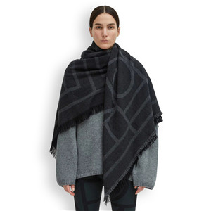 Wholesale geometric pattern cashmere scarf
