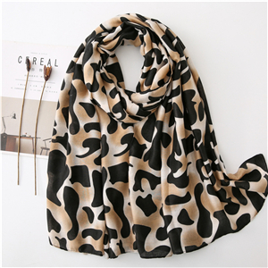 Wholesale leopard print cotton scarf